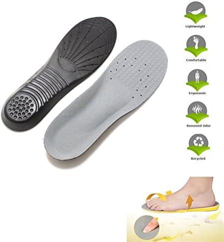 WINOMO Einlegesohle Schuheinlagen Fußbett Fersensporn Memory Schaum Innensohle Orthesen Sport Schmerzen Linderung Schuheinlage - 1 paar
