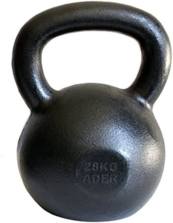 Ader Premier Kettlebell 28kg 62lb with Free Gym Chalk