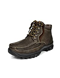 """Bruno Marc Men's Genuine Leather Rubber Outsole Classic American 6"""" Work Boots"""