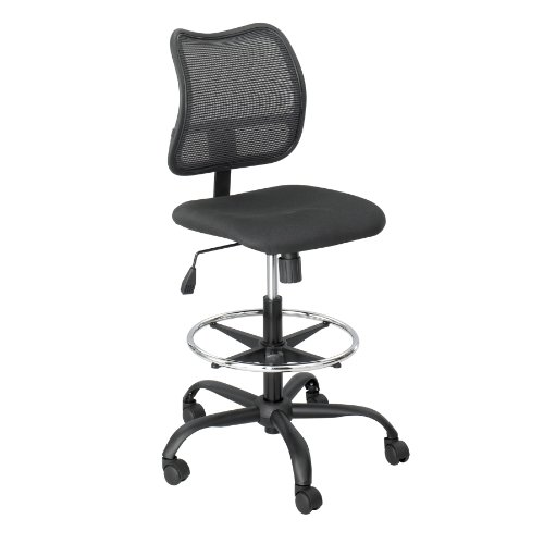 Safco Products BL Vue Extended Height Mesh Chair Optional arms sold separately Black
