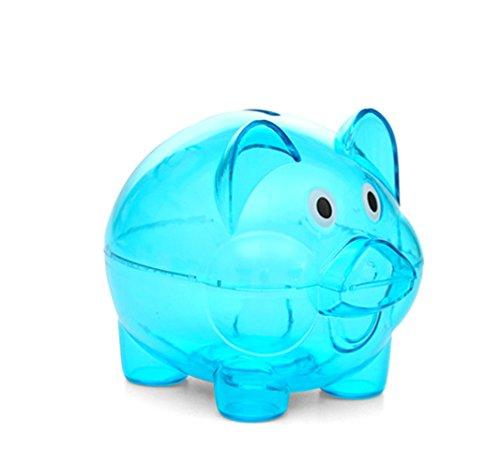 LIOOBO 1 Pc Lovely Cartoon Piggy Bank Money Saving Bank Silicone Coin Bank for Children Kids Toddlers