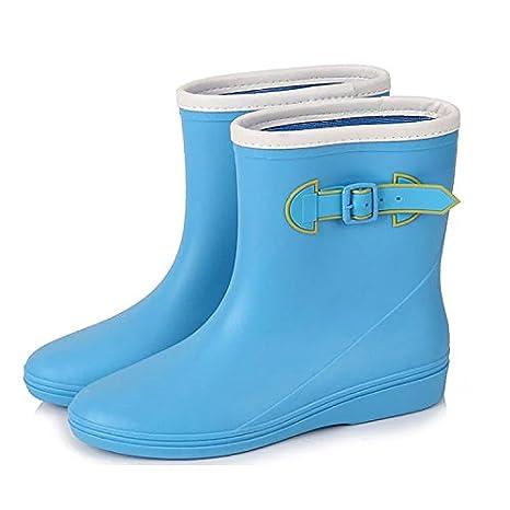 Stivali da pioggia pioggia stivali donna fibbia moda