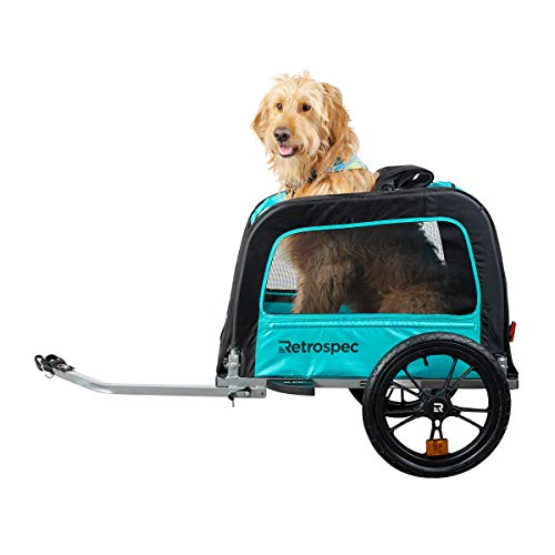 Retrospec Rover Waggin Pet Bike Trailer, Small and Medium Sized Dogs Bicycle Carrier, Foldable with 16 Inch Wheels