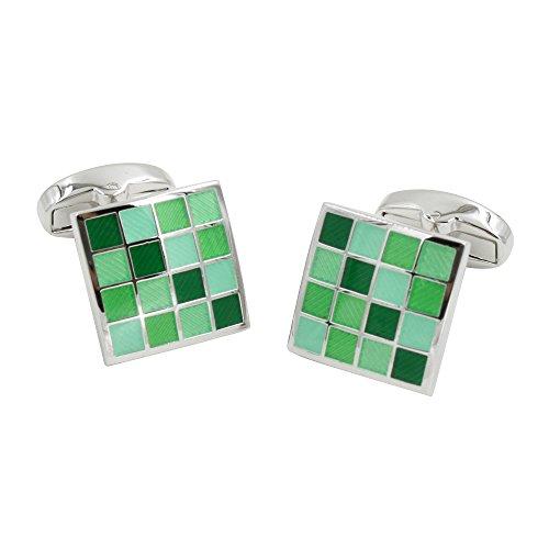 Jade Coral Green Cufflinks | 5 Yr Warranty | Gift Box Inc | 35th Anniversary Gift by AUSCUFFLINKS (Image #5)