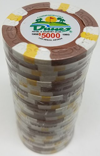 (Poker Chips - (25) $5000 Dunes Commemorative 9 gram Clay)