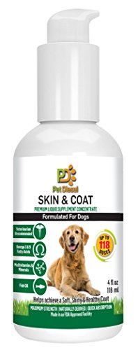 Skin coat liquid supplement for dogs by pet diesel for Fish oil for dogs dry skin