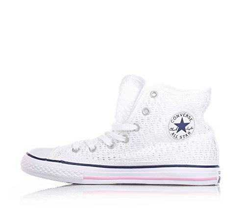 Converse Star Hi Tiny Crochet - Zapatillas Abotinadas Unisex Niños Bianco