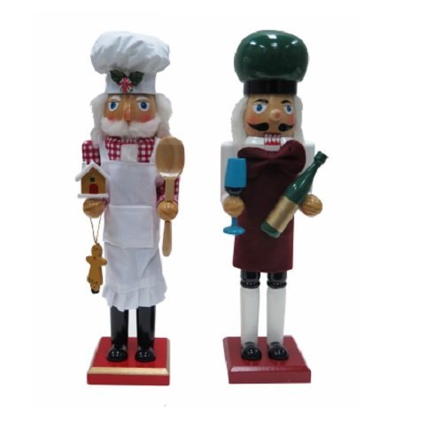 Danson Hong Kong Chef Wood Nutcracker, 15""