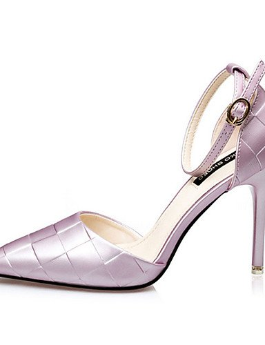 Zq negro tac¨®n Uk4 casual Morado Stiletto Zapatos Eu39 Purple Uk6 seda Cn37 5 Mujer tacones 7 Eu37 5 Fucsia Plata tacones us6 Cn39 Purple De us8 5 zrxzfq