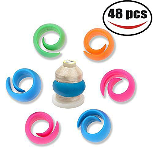 48 Pcs Peels Thread Spool Huggers for Sewing Machine to Prevent Thread Unwinding No Loose Ends or Thread Tails by ohDeb