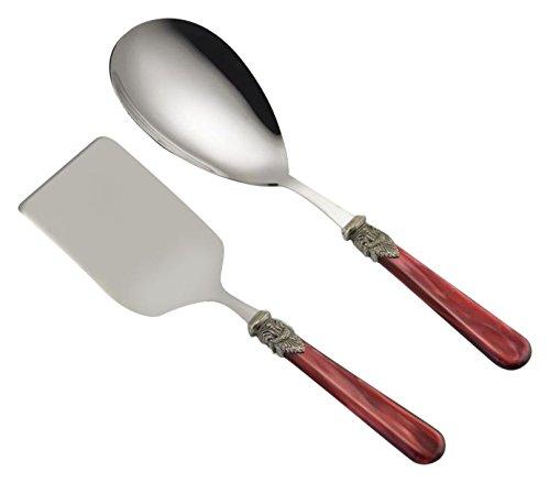 Arvindgroup ETS2NPPRPL/PE8 Napoleon Collection Rice Spoon/Lasagna Scoop Set, Bordeaux