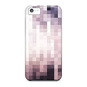 Iphone Case - Tpu Case Protective For Iphone 5c- Squares Pattern
