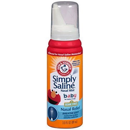 Simply Saline Nasal Mist Baby, Sesame Street 3 oz (Pack of 10) by Simply Saline