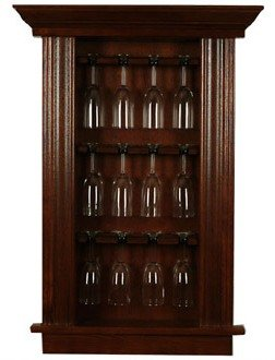 In Wall Cabinets Recessed Originals WGM3B Medium Back Bar Wine Glass Cabinet,  Maple Colonial