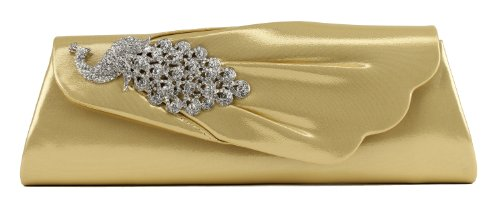 Scarleton Flap Clutch with Crystals H315518 – Gold, Bags Central