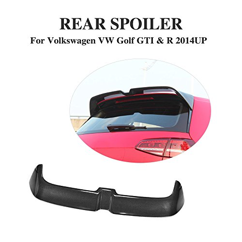 JCSPORTLINE Rear Roof Window Spoiler for VW Golf 7 MK7 GTI&R 2014-2017 (Carbon Fiber, GTI & R) Golf Gti Carbon