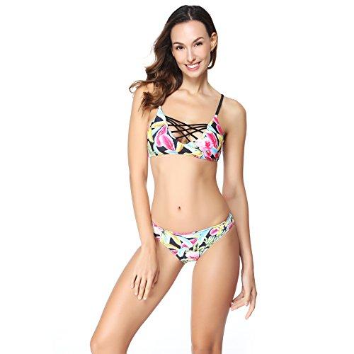 Womens Padded Bikini Halter Swimsuits