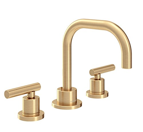 Symmons SLW-3512-BBZ-1.0 Dia Two Handle Widespread Lavatory Faucet, 1.0 GPM, Brushed Bronze