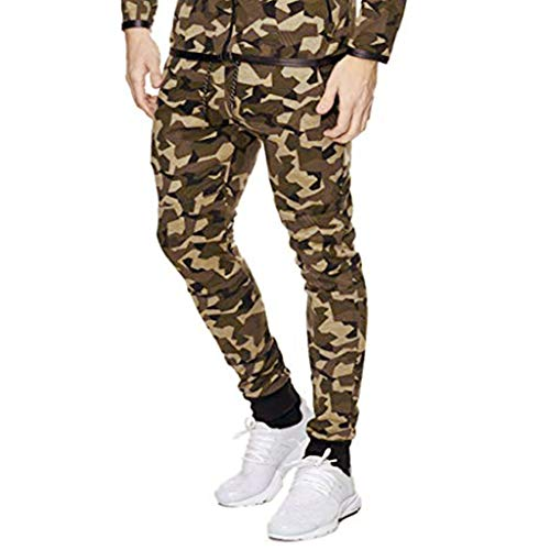 Pafei mens pants Men's Camouflage Athletic Sweatpants,Casual Running Joggers Drawstring Outdoor Trousers