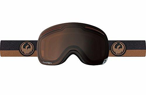 Dragon Alliance X1 Ski Goggles, Flux Brown/Transitions (Adult Brown Dragon)
