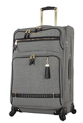 Steve Madden Designer Luggage – Checked Large 28 Inch Softside Suitcase – Expandable for Extra Packing Capacity…