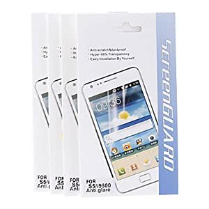 Tqie 4 Pcs Anti-Glare Hyper-98% Transparency Matte Screen Protector for Samsung Galaxy S5 I9600