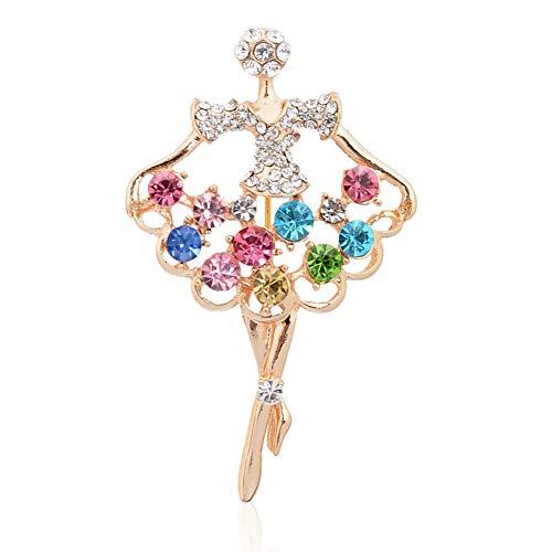 61 Style Women Retro Rhinestone Crystal Flower Wedding Bridal Corsage Brooch Pin | StyleID - #19_ Ballerina Elegant Brooch