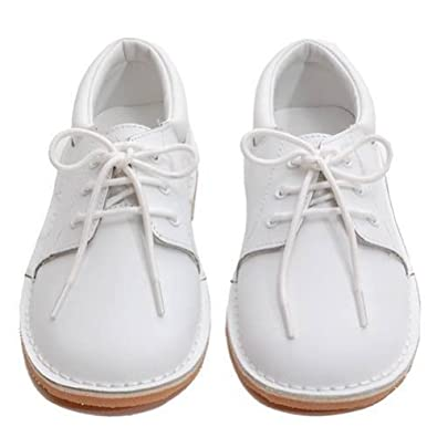 Amazon.com | Toddler Little Boys White Oxford Dress Shoes Size 5-2 ...