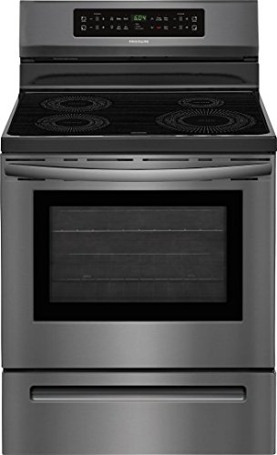 Frigidaire FFIF3054TD 30 Inch Freestanding Electric Range with 4 Elements, Smoothtop Cooktop, 5.3 cu. ft. Primary Oven Capacity, in Black Stainless Steel