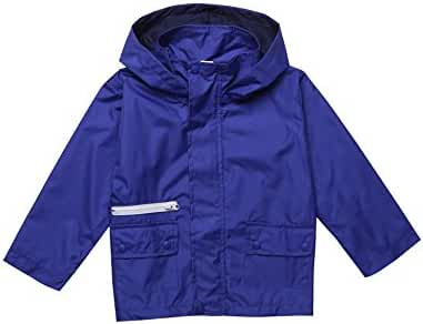 Arshiner Kids Boy Rain Jacket Outwear Coat with Hoodie Outwear