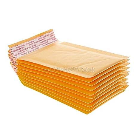 Amazon.com: V2AMZ - Sobres de papel kraft con burbujas de ...