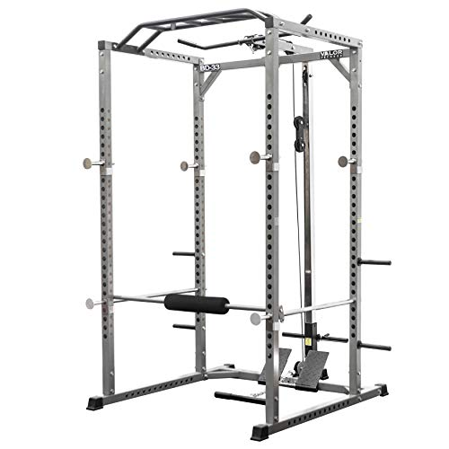 Valor Fitness BD-33 Heavy Duty Power Cage w/Multi-Grip Chin-Up Bar & LAT Pull Attachment