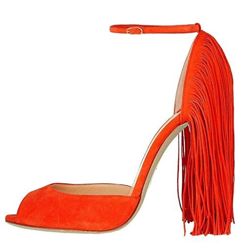 EKS - Tacón de aguja Mujer Naranja - naranja