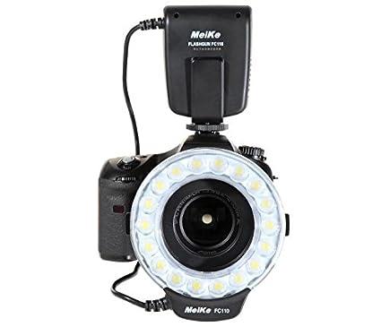 Meike - Flash de Anillo Macro para cámaras réflex Nikon: Amazon.es ...