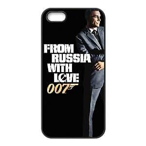 Desde Rusia con alta resolución cartel del amor iPhone 4 4S caja del teléfono celular funda Negro caja del teléfono celular Funda Cubierta EEECBCAAJ70768