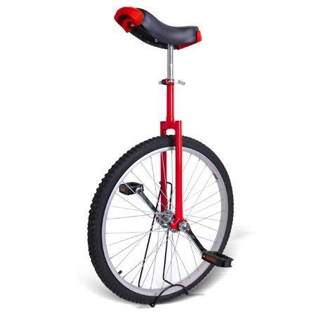 Gorilla Unisex Unicycle Heavy Duty Steel Frame and Alloy Wheel (Red, 24 Inch)