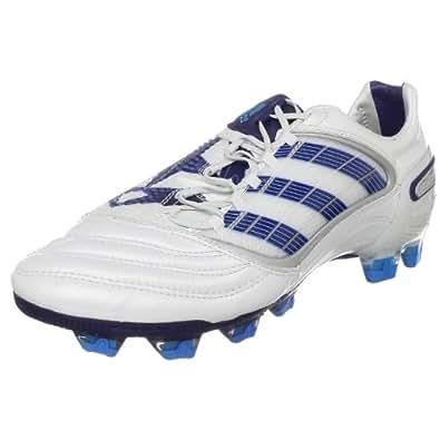adidas Men's Predator X FG  Soccer Cleat,Predator Running White/Night Sky/Cyan,13 M US