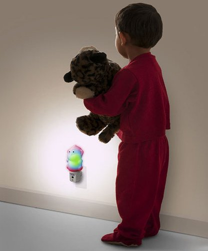 WallMate Cool LED Night Light for Kids, Toddlers & Sleeping Baby - Wall Plug-In Outlet (Hippo) by MOBI (Image #3)