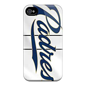 Shockproof Hard Cell-phone Cases For Iphone 4/4s With Unique Design Beautiful San Diego Padres Pictures JasonPelletier