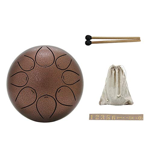 (Yuuups Portable 5 Inch Steel Mini Stainless Steel Hand Pan Drum Percussion Innovative Lotus Empty For Kid)
