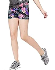 Justice Girls Active Compression Shorts Tropical