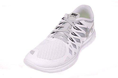 Nike Men's Free 5.0, WHITE/METALLIC SILVER-WOLF GREY-PURE PLATINUM, 11.5 M US