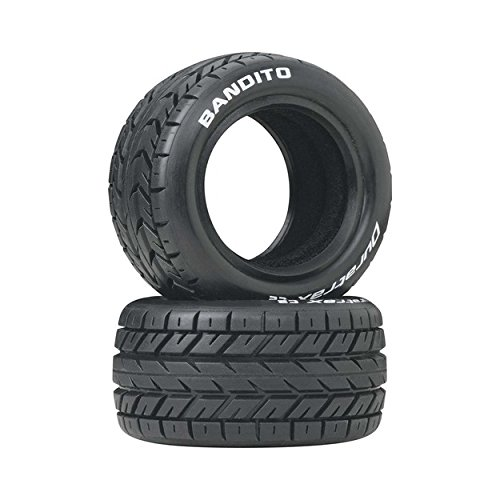(Duratrax Bandito 1:10 Scale RC 4WD Buggy Rear Tires with Foam Inserts, C2 Soft Compound, Unmounted (Set of 2))