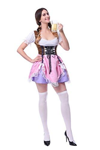Lemail Costumes Women's Plus Size Oktoberfest Fraulein pink XX-Large - Womens Plus Size Oktoberfest Fraulein Costumes
