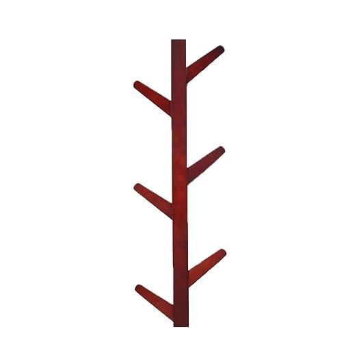 TOYANDONA - Perchero de Pared con 6 Ramas de Madera de bambú ...