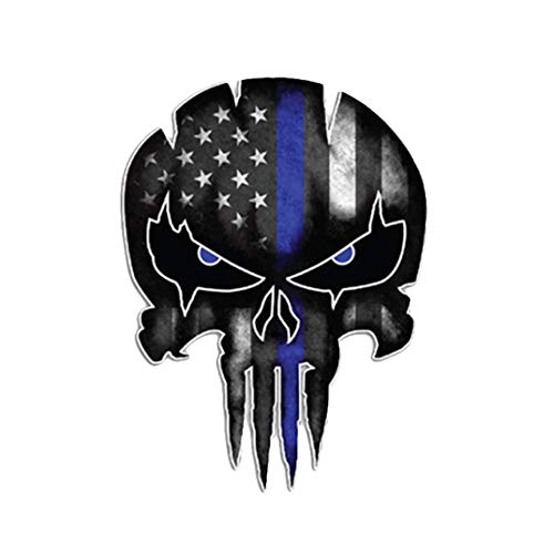 (Glumes Skull 3D Sticker, Halloween, Scariest, Removable, Car Side Body Decal, Motorcycle Bicycle Body Sticker, Luggage Decal, Graffiti Patches, Skateboard Stickers, Laptop Stickers, Mural Decor Decal)