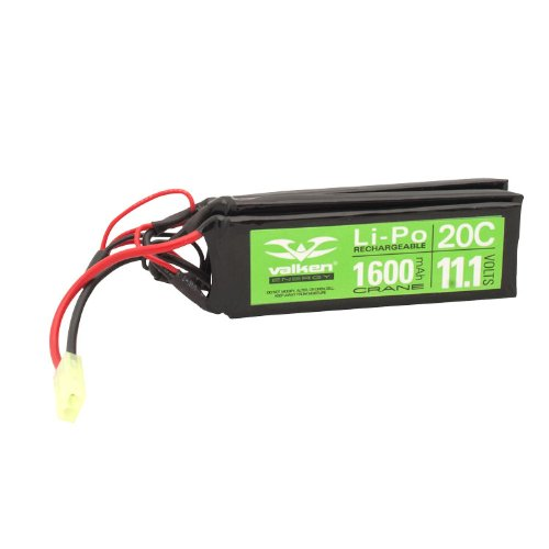 Valken Energy Li-Po 11.1v 1600mAh 20C Crane Style Battery