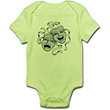 CafePress - Comedy Tragedy Masks Infant Bodysuit - Cute Infant Bodysuit Baby Romper