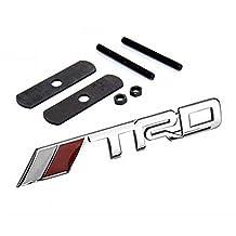 BENZEE B042 Car Chromed Emblem Badge Decal Sticker TRD Front Grille For TOYOTA PRODO VENZA HIGHLANDER RAV4 Camry