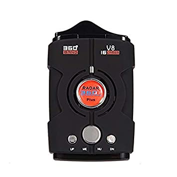 ghfcffdghrdshdfh Radar V8 Coche Sistema de Herramienta de Prueba de Velocidad de 360 ° 16 Banda de Barrido láser LED Detector: Amazon.es: Coche y moto